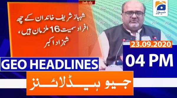 Geo Headlines 04 PM   23rd September 2020