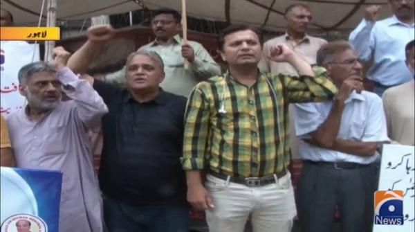 Protests against illegal detention of Editor-in-Chief Jang-Geo Media Group Mir Shakil-ur-Rahman continue