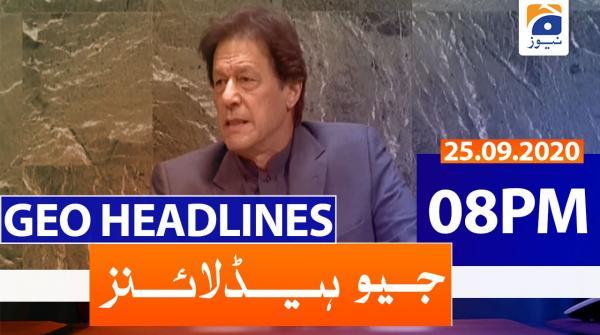 Geo Headlines 08 PM | 25th September 2020