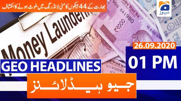 Geo Headlines 01 PM | 26th September 2020