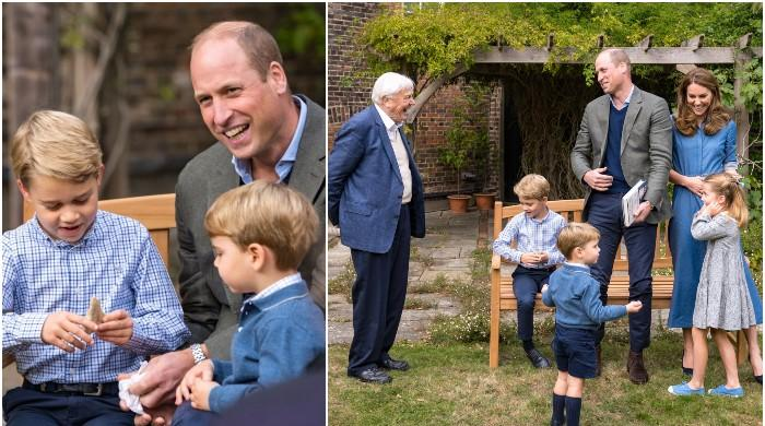 Prince George gets a 23 million-year-old gift as Sir David Attenborough comes to visit