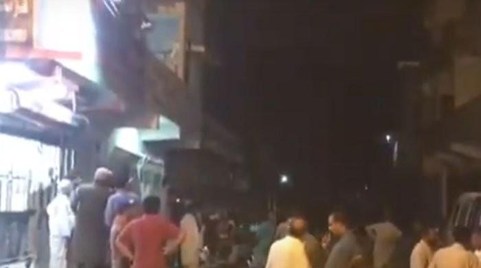 Residents evacuated from three-storey Karachi building after it tilts to dangerous level