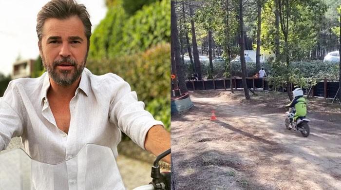 Engin Altan Duzyatan aka Ertugrul's son Emir's motocross racing video wins the internet