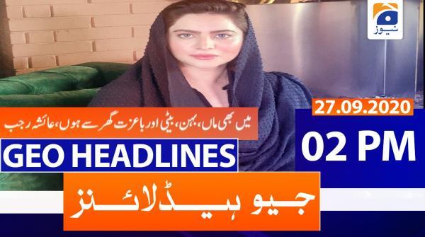 Geo Headlines 02 PM | 27th September 2020