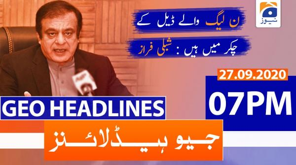 Geo Headlines 07 PM | 27th September 2020