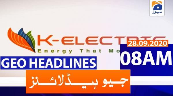 Geo Headlines 08 AM | 28th September 2020