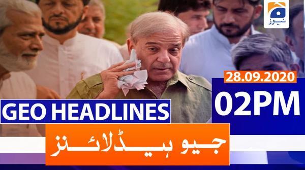 Geo Headlines 02 PM | 28th September 2020