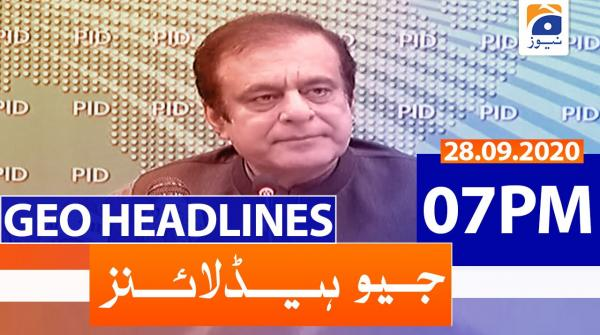 Geo Headlines 07 PM | 28th September 2020