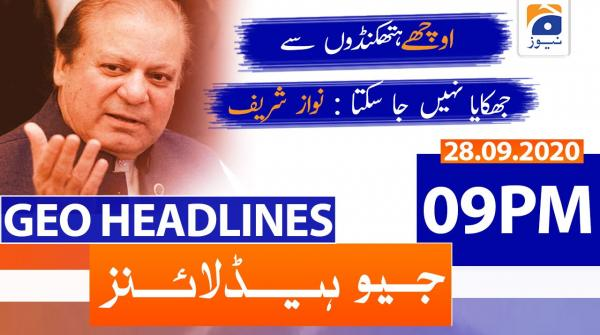 Geo Headlines 09 PM | 28th September 2020