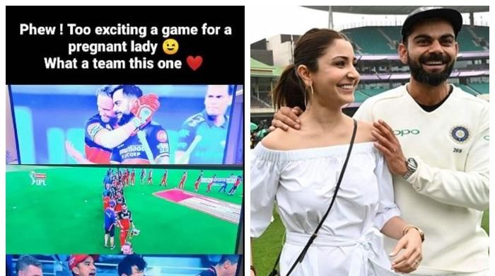 'Too exciting a game for a pregnant lady': Anushka elated on Kohli's IPL win