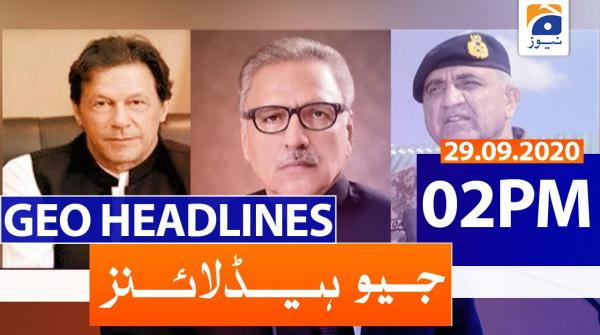 Geo Headlines 02 PM | 29th September 2020