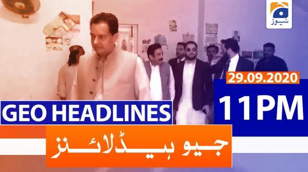 Geo Headlines 11 PM | 29th September 2020
