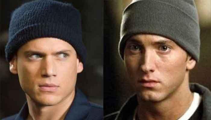 Eerie similarities between Eminem and Wentworth Miller aka