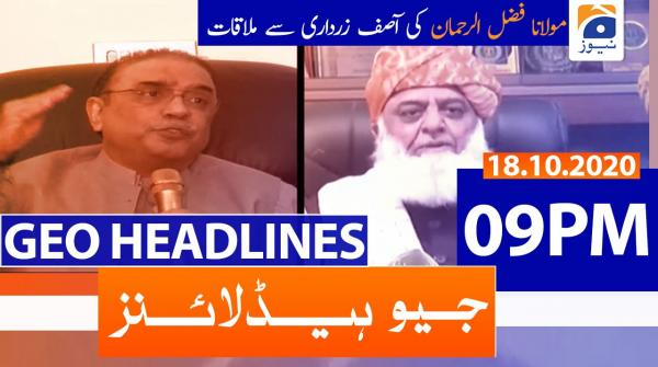 Geo Headlines 09 PM | 18th October 2020