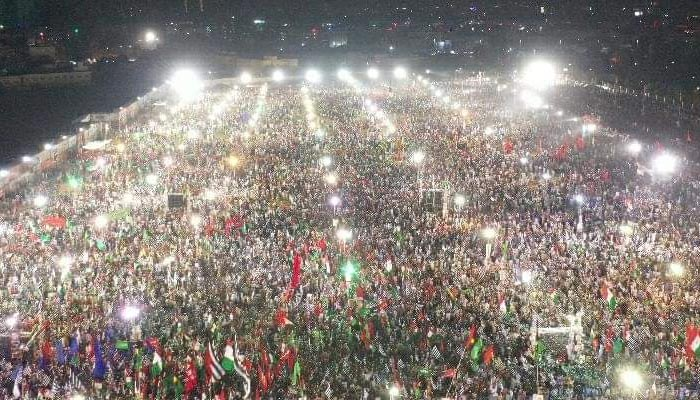 The massive crowd PDM's Karachi rally, on October 18, 2020. — Twitter