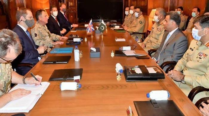 Pak Army chief meets top UK general to discuss defence cooperation, bilateral matters