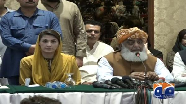 Captain Safdar taken from his hotel room: Maulana Fazlur Rehman