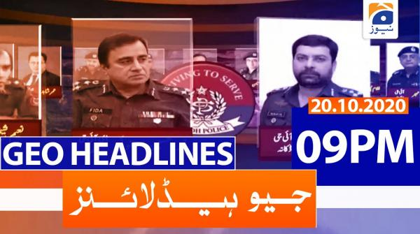 Geo Headlines 09 PM | 20th October 2020