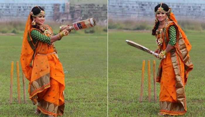 Bangladesh cricketer Sanjida Islams wedding photos on pitch bowl over internet