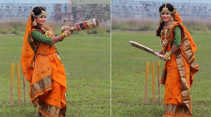 Bangladesh cricketer Sanjida Islam's wedding photos on pitch bowl over internet