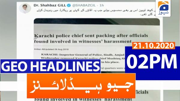 Geo Headlines 02 PM | 21st October 2020