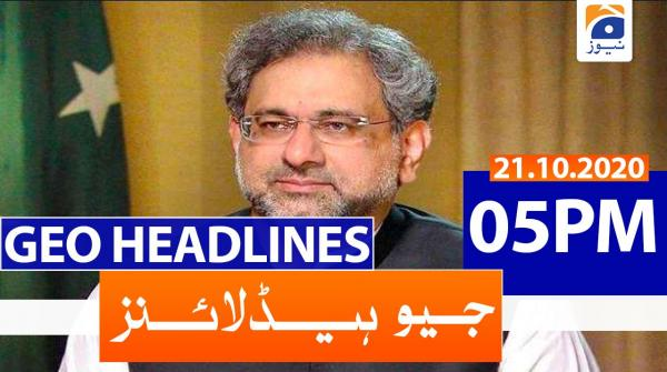 Geo Headlines 05 PM | 21st October 2020