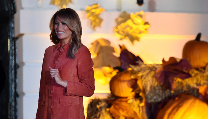 First Lady Melania Trump attends the Halloween celebration at the White House in Washington, US, October 25, 2020. AFP/Olivier Douliery