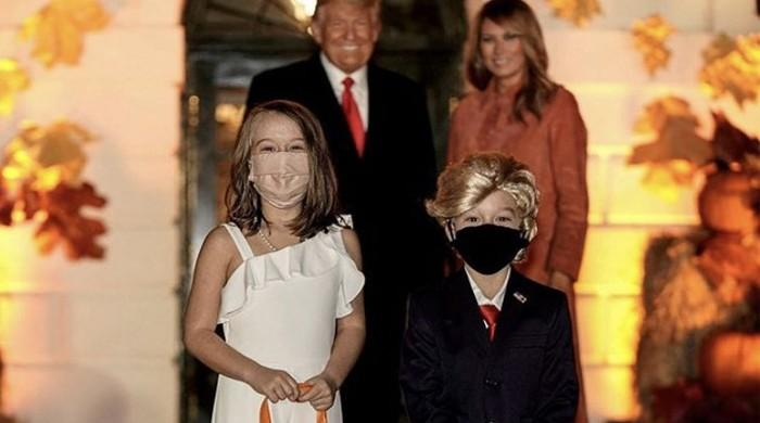 Halloween: Kids dressed as Trump, Melania pose with US President, First Lady