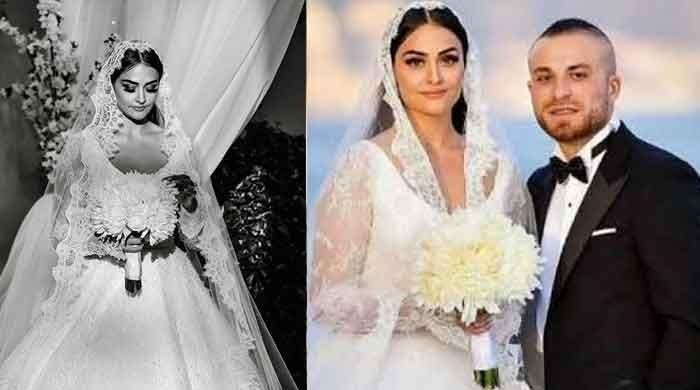 'Ertugrul' star Esra Bilgic's wedding pictures at a glance: Actress was all smiles on her big day