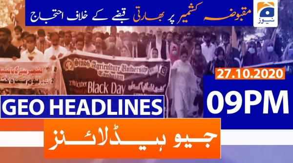 Geo Headlines 09 PM | 27th October 2020