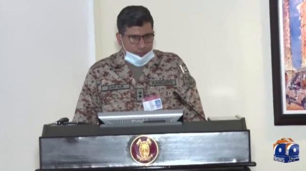 A meeting chaired by DG Rangers to review the security of 12 Rabi-ul-Awal