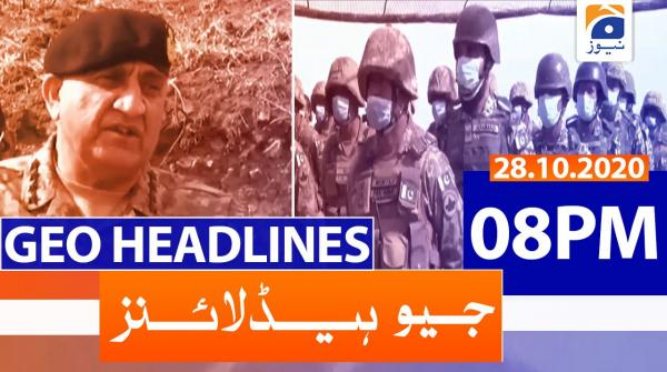 Geo Headlines 08 PM | 28th October 2020