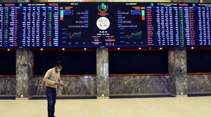 PSX: Stocks take a battering, KSE 100 closes down more than 1,200 points
