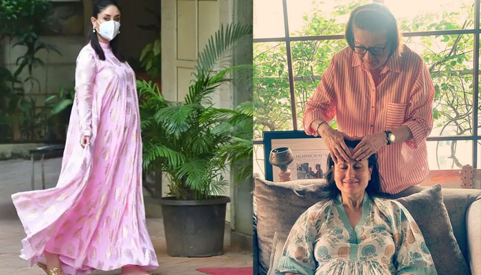 Pregnant Kareena Kapoor enjoys mom Babitas 'haath ka maalish, photo goes viral