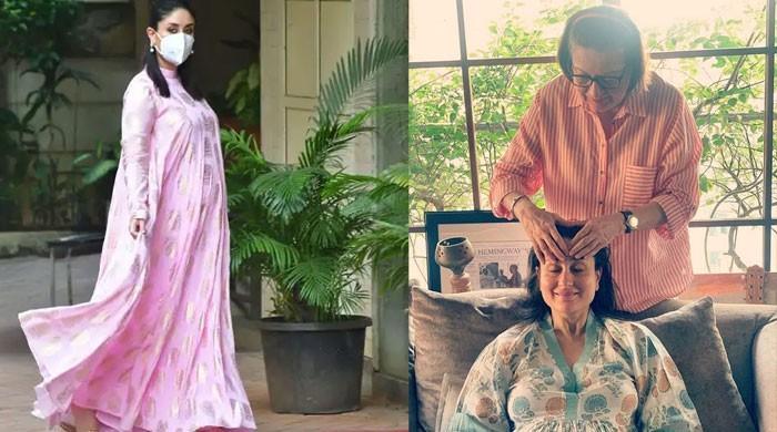 Pregnant Kareena Kapoor enjoys mom Babita's 'haath ka maalish', photo goes viral