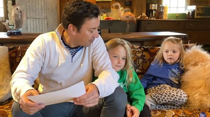 Jimmy Fallon teaches his 'spoiled' kids the art of 'giving' this festive season