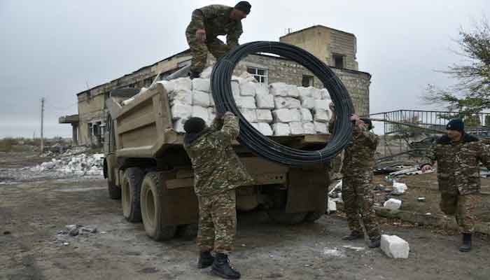 Azerbaijan army enters district handed over by Armenia