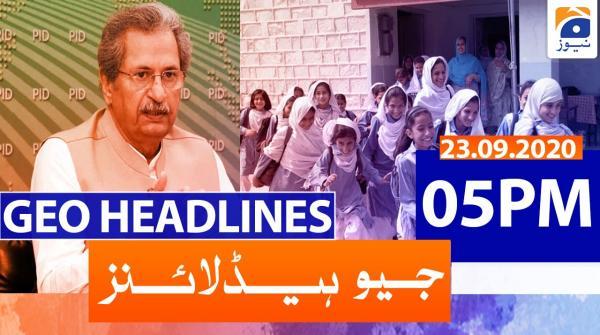 Geo Headlines 05 PM | 23rd November 2020