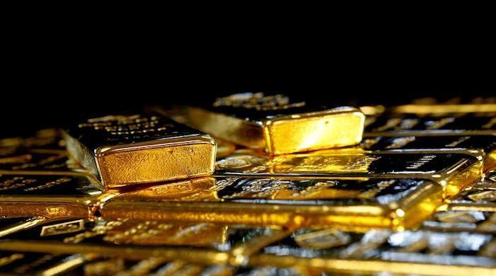 Gold being sold at Rs110,500 per tola in Pakistan