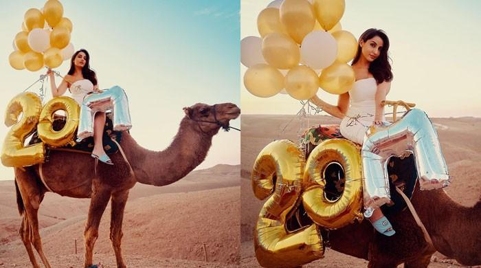Nora Fatehi rides a camel for the first time after she hits 20 million followers