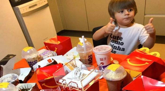 Toddler orders £55 McDonald's feast using mother's phone