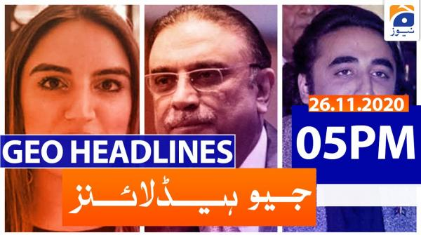 Geo Headlines 05 PM | 26th November 2020