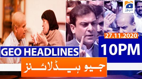 Geo Headlines 10 PM | 27th November 2020