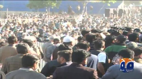Funeral of Begum Shamim offered in Lahore