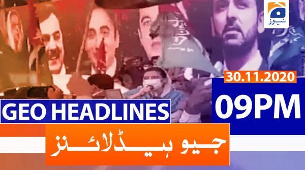 Geo Headlines 09 PM | 30th November 2020