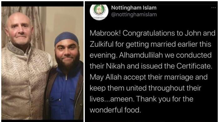Trolls attack British Islamic organisation after it tweets wrong picture of a married couple