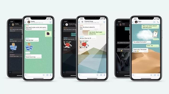 WhatsApp's latest iOS update allows users to assign wallpapers to different chats