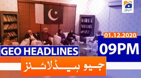 Geo Headlines 09 PM | 1st December 2020