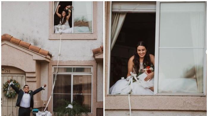 Bride tests positive for coronavirus 3 days before wedding, couple's celebrations break internet