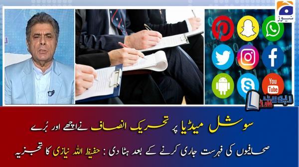 Hafeezullah Niazi | PTI ki Journalists ke khilaf Narazgiyon ki waja kya hai?